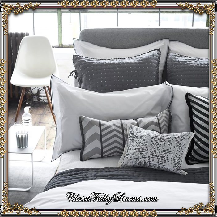 Aston Charcoal and Dove Bedding Set
