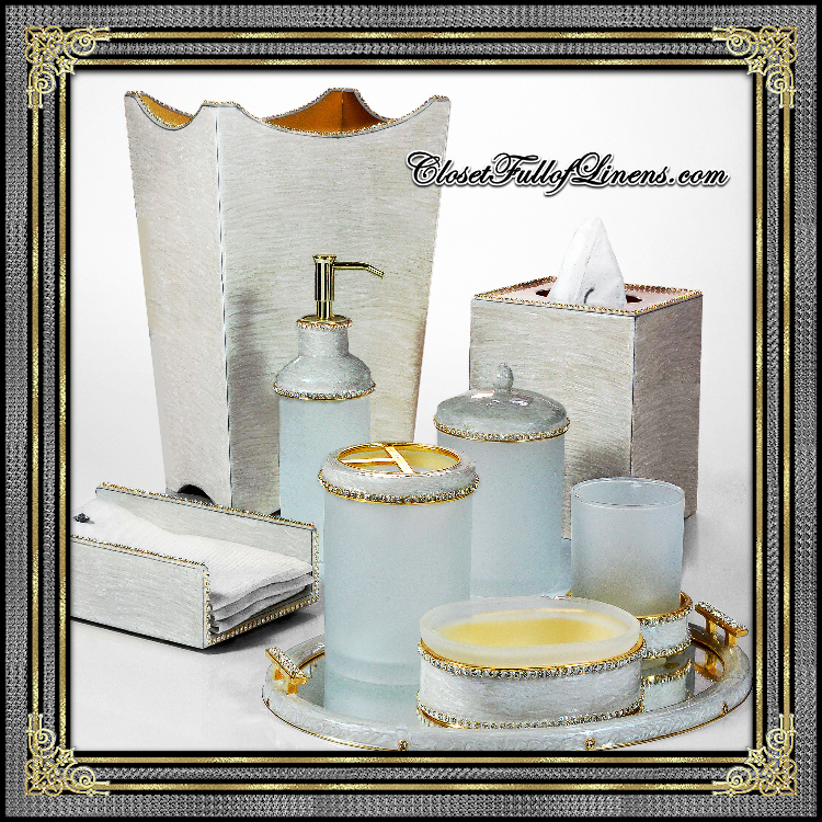 Audrey Silver Bath Accessories