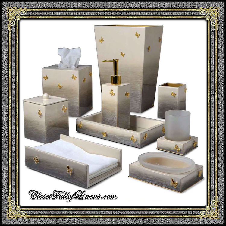 Breeze Gold Bath Accessories