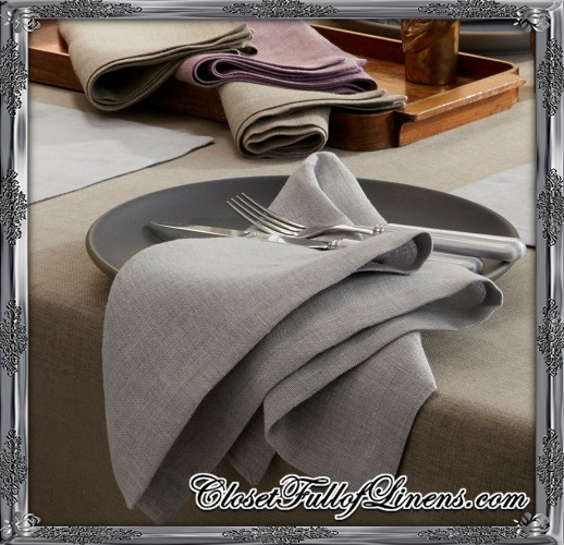 Chamant Table Linens at Closet Full of Linens