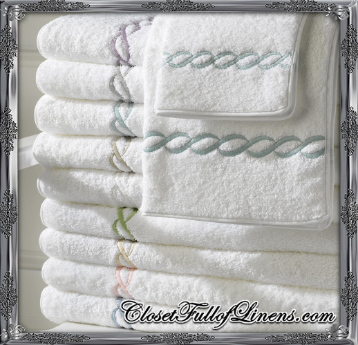 Class Chain Bath Towels by Matouk at Closet Full of Linens