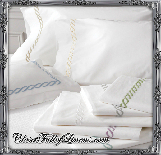 Classic Chain Sheets by Matouk at Closet Full of Linens