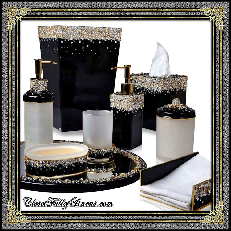 Duchess Black Gold Bath Accessories