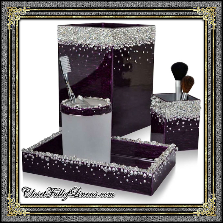 Duchess Smokey Amethyst Silver Bath Accessories