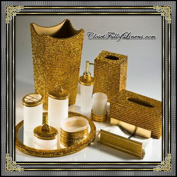 Empire Pave Gold Bath Accessories