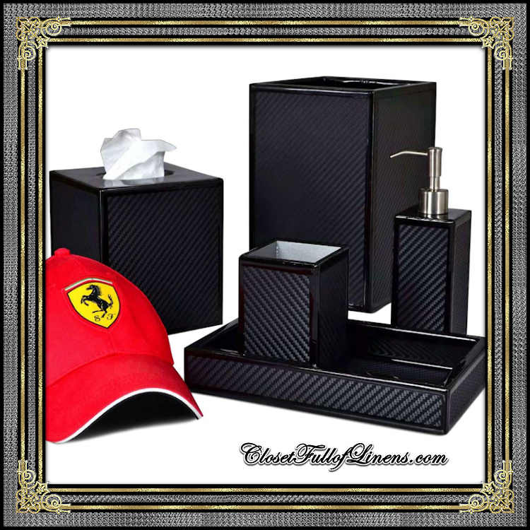 LeMans Black Bath Accessories