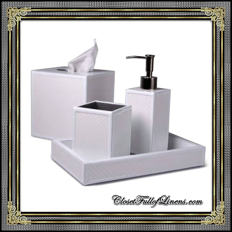 LeMans White Bath Accessories