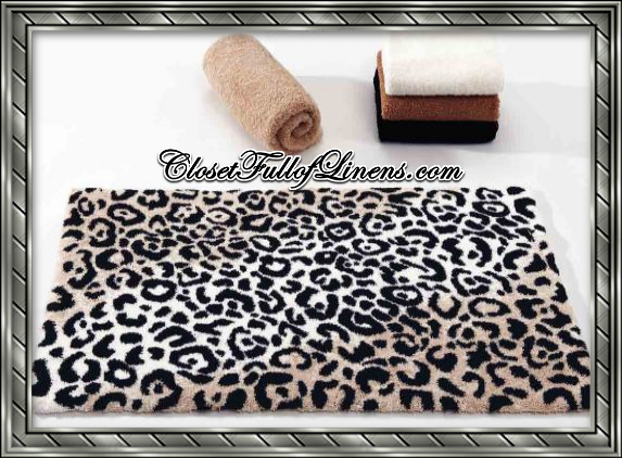 Leopard Bath Mat Rug