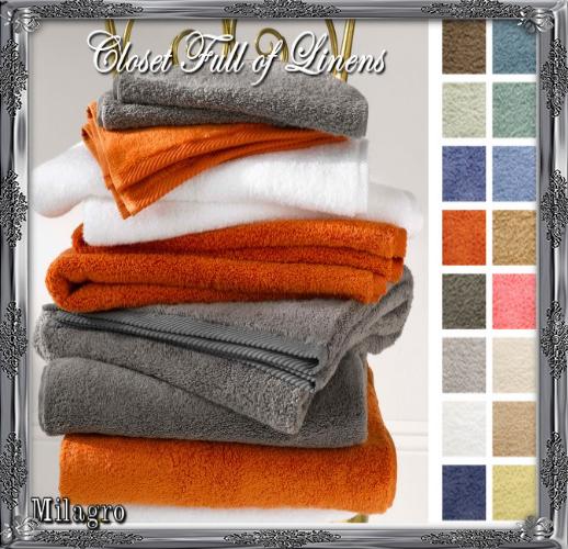 Milagro Bath Towels by Matouk at Closet Full of Linens