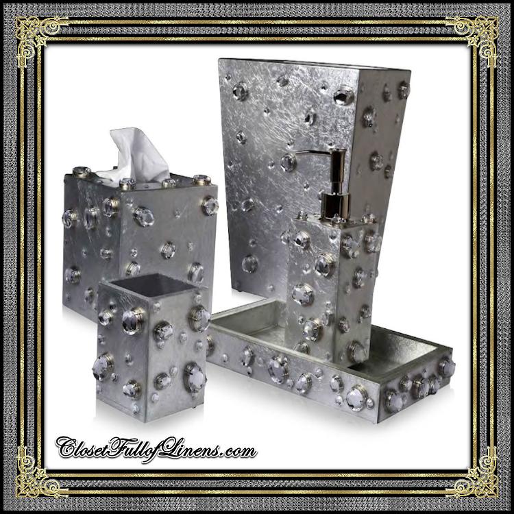 Silver Contessa Bath Accessories