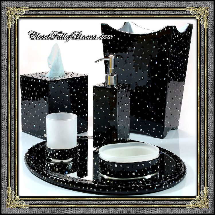 Stardust Black Bath Accessories