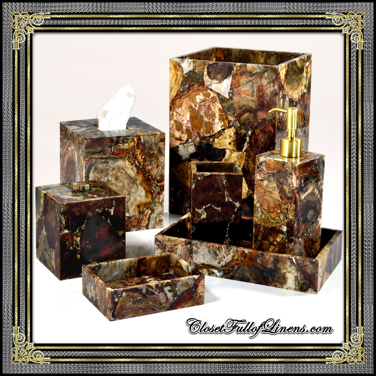 Taj Petrified Wood Bath Accessorie
