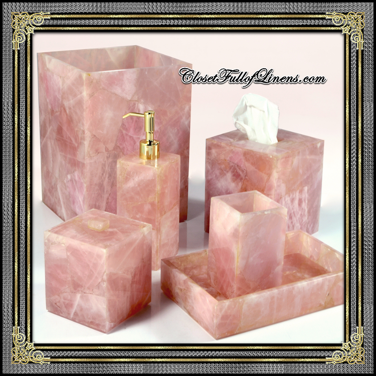 Taj Rose Quartz Bath Accessories