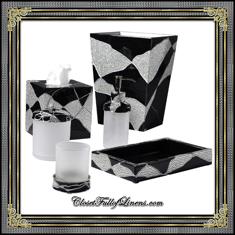 Genesis Black Crystals Bath Accessories